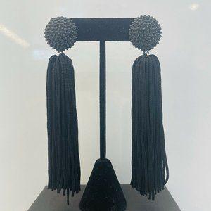 sugarfix by baublebar earrings Black Tassels NWTS